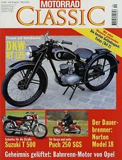 Motorrad Classic 4/96 1996 DKW RT 125 Norton Model 18 Puch 250 SGS Suzuki T 500