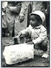 Philippe Senghor à Franceville-Plage, avril 1961 Vintage silver print,le fils