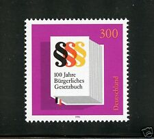 Germany Complete MNH Single #1942 German Civil Code Stamp
