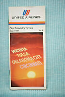 United Airlines Timetable - July 2, 1981
