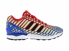 ADIDAS Mens ZX Flux Xeno Reflective Glow Running Shoes Blue Red AQ4533 Men's 9.5