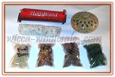 Asst Soapstone Incense Burner Charcoal and 4 Resin, Sage Charcoal Kit travel #1