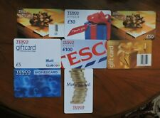 8 USED TESCO CORPORATE UK GIFT CARDS NO VALUE. COLLECTORS ITEM.  LOT 1