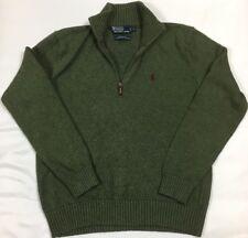 Polo Ralph Lauren 1/4 Quarter Zip Pullover Sweater Men's SZ S Olive Green