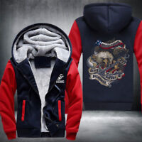 Marine corps print coat man sweatshirt autumn winter thick hoodies US SIZE S-5XL