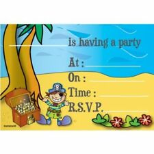 Amscan PIRATE BIRTHDAY PARTY INVITATIONS With Envelopes 8 Pack Invites Boys Kids
