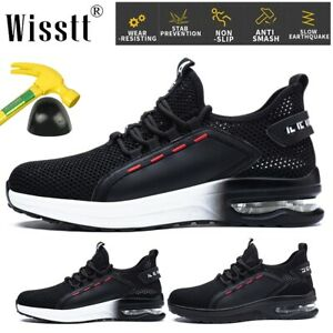 Mens Bulletproof Safety Boots Air Shoes Military Running Steel Toe Work Sneakers