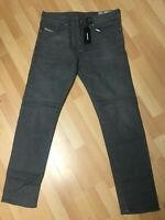 NWT Mens Diesel BUSTER Stretch Denim 0853T FADED Grey Slim W33 L32 H7 RRP£150