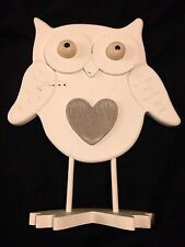 Novelty Wooden Owl on stand. Last Few. Order Now For A Great Gift Idea!