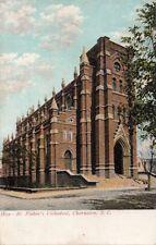 Postcard St Finbar's Cathedral Charleston SC  South Carolina