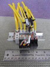 SMC Pneumatic Electric 5 Valve Bank 24VDC VQ1170Y VQ1270 Quick Connects VQ1270N2