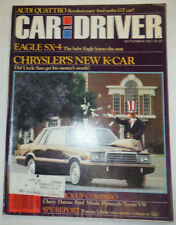 Car And Driver Magazine Eagle SX-4 & Chrysler's New K-Car September 1980 022715r