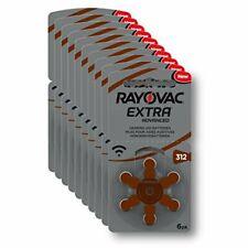 Rayovac Extra Advanced Hearing Aid Zinc Air Hearing Aid Batteries brown