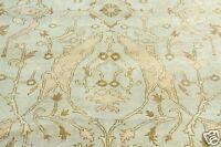 Vintag Cr1980-1990s Indo-Paky Ushak 9'9''x13'9'' New Zealand Wool Pile Area Rug