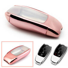 Full Sealed Pink TPU Key Case Fob For Mercedes Benz E300 W213 E Class 2017 2018