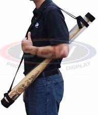Clear Plastic Poster or Baseball Bat Tube Holder Black End Caps Shoulder Strap