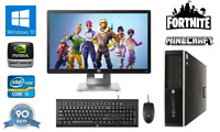 "Fast Quad Core i5 Gaming PC + 20"" Monitor 8Gb RAM 240GB SSD Fortnite Computer PC"