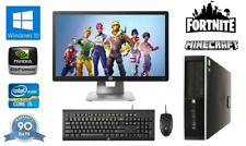 "Fast Cheap Quad Core i5 Gaming PC 20"" Monitor 8Gb RAM 240Gb SSD Fortnite PC"