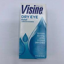 New Visine Dry Eye Relief Lubricating Eye Drops 0.5 Oz. Exp12/2021
