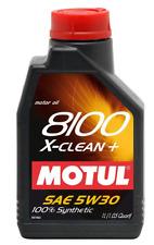 MOTUL OLIO 8100 X CLEAN PLUS + 5W30 LUBRIFICANTE MOTORE SINTETICO 1 LITRO C3 DI
