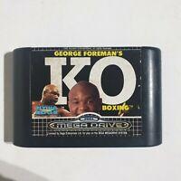 George Foreman's KO Boxing - Sega Mega Drive Game PAL cartridge only