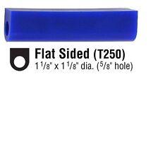 Anello Blu CERA t250 PIATTO a tubo 28mm lato piatto 28mm alto cera colata tc0129