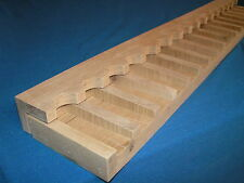 18 gun - wood closet gun rack with floor base- Solid Oak