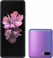 Samsung Galaxy Z Flip SM-F700U1-256GB Mirror Purple Factory Unlocked CDMA + GSM