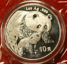 2004 CHINESE PANDA DESIGN 1 OZ .999% SILVER ROUND BULLION COLLECTOR COIN GIFT