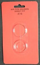 (2) 16mm DIRECT FIT AIR-TITE COIN HOLDERS