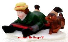 Dept. 56 Snow Children One Boy on Sled w. Dog New England 59382