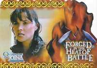 Xena  F3 Quotable Forged in the heat of Battle Card