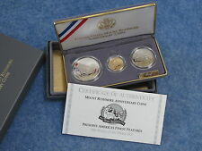 1991 Mount Rushmore 3 Piece Gold & Silver Gem DCAM Proof Set B9278