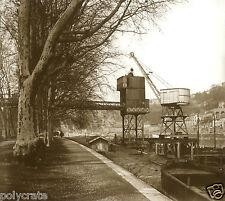 Tirage repro photo ancienne - Grue débarquement Quai de Saône Lyon