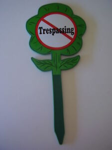 No Trespassing-Yard Sign-Garden Sign-Lawn sign-No Sales-No Trespass-