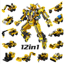 Building Blocks Construction kits Robot Hero Engineering Toys Model Figure 12in1