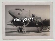 WW2 RAF DAKOTA DC3 C47 SKYTRAIN NOSE ART ORIGINAL PRIVATE PHOTOGRAPH