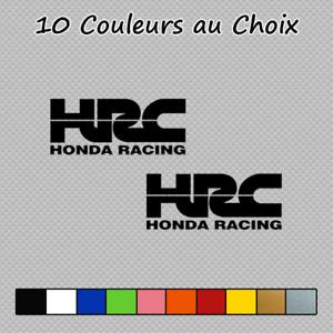 2 Stickers HONDA HRC Decal HON02 NR VFR CBR RVF RC212V Japon Couleurs au choix