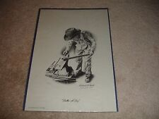 """Rare Richard K. Reed """"Dollar-A-Day"""" 1976 Signed and Numbered 556/1000 Art Print"""