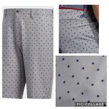 New Adidas Ultimate 365 USA print Mens Golf Shorts- Gray / stars  Multiple Sizes