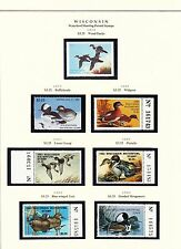 STATE OF WISCONSIN HUNTING PERMIT STAMPS 1978-2004 MOUNTED ON 4 PAGES BT6457