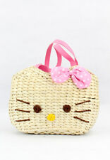 Hello Kitty Face Handmade Rustic Abaca Shoulder Bag