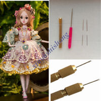 Doll Hair Rooting Reroot Rehair Tool Holder With 5 Extra Needles