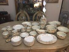 76 Pc Autumn Leaf by Hall Superior China Jewel Tea Vintage Dinnerware Set