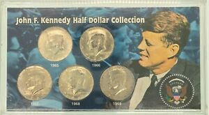 1965 to 1969 John F Kennedy Half Dollar Collection 40% SILVER