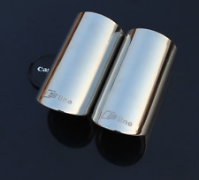 Audi Sline Car Exhaust Stainless Steel Pipe Rear Silver Tail Chrome Logo S line