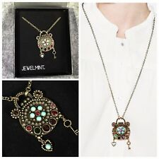NEW IN BOX JewelMint LOVE SPELL Long pendant necklace RARE VHTF oxidized brass