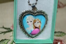 Frozen Princess Elsa & Anna Looking at Each Other Heart 19