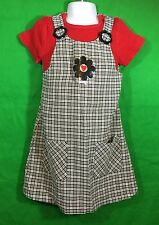 Girls Amy Too Byer California Plaid Dress Jumper With Shirt