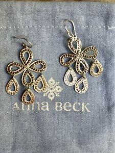 Gorgeous Anna Beck 18 karat  Gold Vermeil And Sterling Earrings